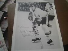SIGNED BOBBY ORR PHOTOGRAPH 8 1/2 x 11 BOSTON BRUINS