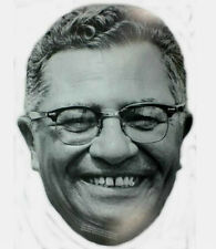 RARE 1997 Cardboard Vince Lombardi Face Mask  Green Bay Packers Coach  NOS