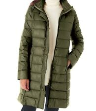 Olive Avacado Green Women's Puffer Coat Hooded Hoodie Size 3 xLarge