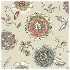 Fine Decor FD20675 WALLPAPER New Scandanavian Twist Floral Exclusive Red/Olive