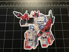 Transformers G1 Metroplex box art vinyl decal sticker Autobot base 1980s toy