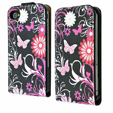 Card Holder Flip Leather Phone Case Cover Pouch For Apple iPhone 4 4G 4S