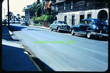 Early 1950's Slide: Cars Along St. Augustine, Florida Street, Oldest House