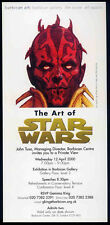 STAR WARS REPRO 2000 . THE ART OF STAR WARS BARBICAN PRIVATE VIEW TICKET NOT DVD