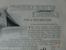 Secret Chambers Hiding Places Sawston Ufton Biscobel Old Victorian Article 1898