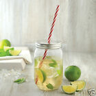 600ML Plastic MASON JAR with STRAW - Wedding Cocktail Party CUP TUMBLER SMOOTHIE