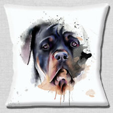 "Rottweiler Dog HEAD close up Artistico Moderno Design 16"" CUSCINO COVER"