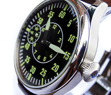 Smart AVIATOR 44mm PILOTs Hand Wind 6497 Vintage Style Army Military Steel Watch