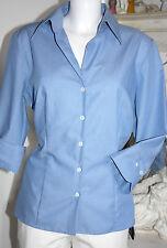 Seidensticker Bluse  Business tailliert 3/4 Arm Hellblau  size:44  Neu