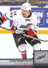 13/14 UPPER DECK AHL #1 SVEN BAERTSCHI HEAT *4811