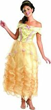 NEW! BELLE DELUXE M 8-10 Adult Women's Disney Princess Beauty & Beast Costume
