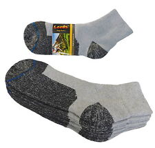 4 Pk ANKLET PREMIUM QUALITY HEAVY SOCKS COTTON GRAY BLACK BOOTIES SOCKS