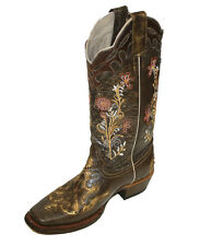 Women's Leather Cowboy Boots Roper Western Rodeo Biker Chick $99.99 Style Python