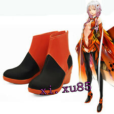 Anime Cos Shoes Guilty Crown Cosplay Shoes Yuzuriha Inori Boots Custom Made Size