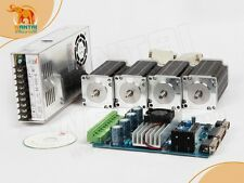 【USA Ship】4Axis CNC Nema 23 Wantai Stepper Motor 270oz-in,3.0A,4Leads Driver