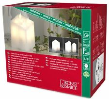 Konstsmide Battery Indoor Wax LED Candles with Dusk Till Dawn Sensor - Warm Whit