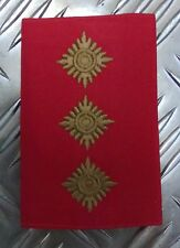 Genuine British Army Gold on Red CAPTAIN Rank Slide / Epaulette - NEW