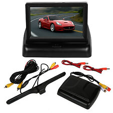 "4.3"" TFT LCD New Driver Monitor Car Rear View Parking Camera Kit Backup Reverse"