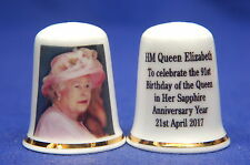 HM Queen Elizabeth To Celebrate the 91st Birthday 21st April 2017 Thimble B/01
