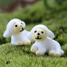 2pcs Miniature Cute Sheep Landscape Figurine Fairy Home Garden Ornament Decor