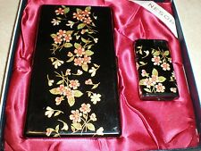 Cigarette Case w/ Lighter Set By NESOR (made in Japan) (very good condition)
