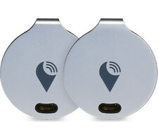 Trackr Bravo Tracking Device - Crowd GPS Tracker Key Finder Christmas -Silver x2