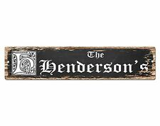 SP0707 The HENDERSON'S Family name Sign Bar Store Shop Cafe Home Chic Decor Gift