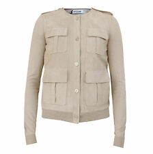 JIL SANDER $2,240 suede leather sweater jacket cardigan jumper coat 40-F/8 NEW