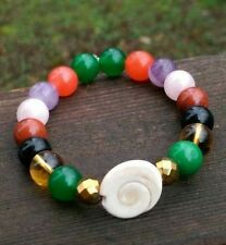 SHIVA EYE Shell Cat's Eye Mixed Stone Bracelet Crystal Healing Reiki Gemstone
