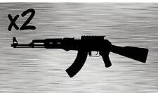 (2) Ak-47 Decals - Stickers Vinyl Draco Gun Pew Merica Ak Ak74 Ak47 7.62 Wasr