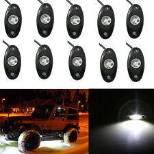 10 White CREE LED Rock Light JEEP ATV Off-Road Truck Under Body Trail Rig Light