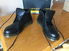 Vintage Dr Martens 7751 Black leather steel boots UK 7 EU 41 punk goth England