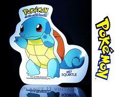 Vintage 1999 Nintendo Pokemon Squirtle #07 vinyl sticker + FREE BONUS Pikachu