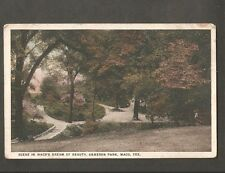 VINTAGE POSTCARD SCENE IN DREAM OF BEAUTY CAMERON PARK WACO TEXAS TX BEHRENS