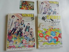 CD+DVD+Photobook+photocard with 5 signs Shinee Replay Japan Debut Premium