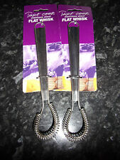 2 x 20cm Just Cook Stainless Steel Flat Whisks