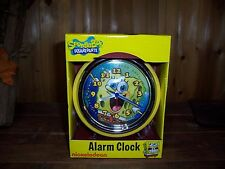 NICKELODEON SPONGEBOB SQUAREPANTS ALARM CLOCK KIDS CARTOON FUN TOY ACCESSORIES