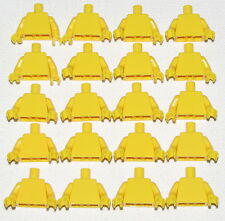 LEGO LOT OF 20 NEW PLAIN YELLOW MINIFIGURE TORSOS MINIFIG WITH YELLOW HANDS