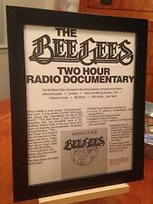 "FRAMED BEE GEES ""MAIN COURSE"" LP ALBUM CD & 2-HOUR RADIO SHOW PROMO AD"