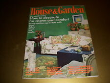 Vintage HOUSE & GARDEN Magazine, February, 1972, DECORATE FOR CHARM AND COMFORT!