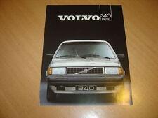 DEPLIANT Volvo 340 Diesel de 1986