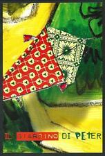 Emanuele Luzzati : Il Giardino di Peter Pan - cartoncino invito cm 14 x 21