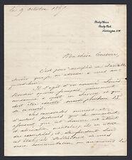 Duc de Nemours Signed Letter to Queen Victoria for Prisoner Clemency 1867