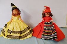 """BISQUE NANCY ANN STORYBOOK DOLLS 6 1/2"""" WOBBLE HEAD jANUARY #187 & OCTOBER #196"""