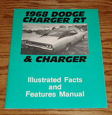 1968 Dodge Charger & Charger RT Illustrated Facts & Features Manual 68