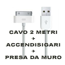 Kit Carica Batteria Auto Usb 30 Pin 2M Per Iphone 3G 3GS 4 4S Ipod Touch Ipad 2