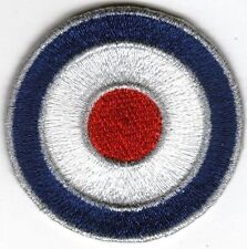 Iron On/ Sew On Embroidered Patch Badge MOD Target Roundal RAF Logo