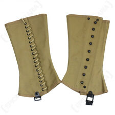 US ARMY M1938 CANVAS LEGGING/GAITERS/SPATS 3R WW2 REPRO