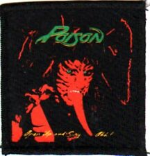 POISON 'OPEN UP AND SAY AHH!'  vintage sew on printed patch