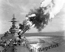 Photograph Vintage US Navy Battleship New Jersey BB-62 Korean War  1953  8x10